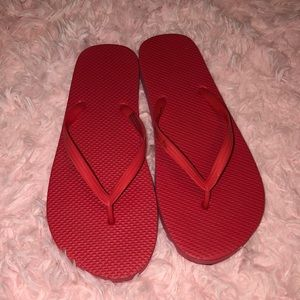 Shoes - Red flip flops